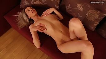 Masha Poplavskaya In Virgin Blonde With Big Tits Masturbating