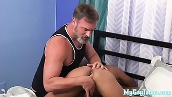 Slender Stepson Fucks Bareback With A Gray Wolf After Anal Fucking